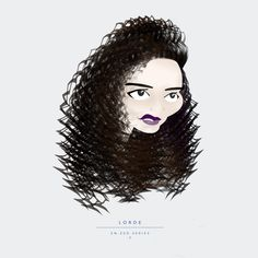 En-Zed Caricature, Illustration - Lorde