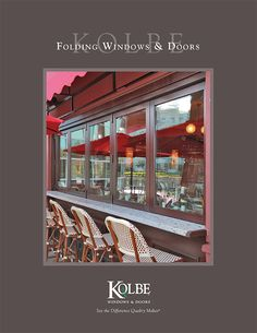 Create a scenic addition to your design project with Kolbe's folding windows and doors. Folding doors and windows, available in Heritage Series and Ultra Series, open up rooms dramatically by extending the living space to the outdoors. Window Company, Folding Doors, Open Up, Windows And Doors, Design Projects, Living Spaces, Ultra Series, Mansions, House Styles