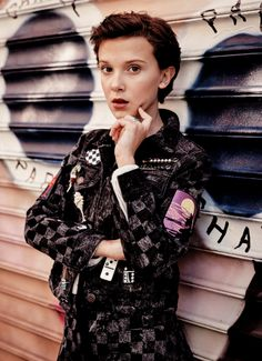 Millie Bobby Brown photographed by Steven Pan.