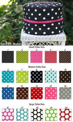Polka Dot Round Helmet Bag by PaddedPonies, $55.00