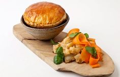 Steak and Ale Pie. Paul Foster provides a simple and homely steak and ale pie complementing the pie with celeriac and carrots. Steak Pie Recipe, Steak Ale Pie, Steak And Ale, Pie Recipes, Cooking Recipes, Tacos, Great British Chefs, English Food, English Recipes