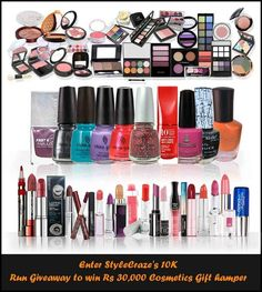 Win Rs.30,000 Cosmetics Gift hamper by joining StyleCraze's 10K run giveaway here @  http://www.community.stylecraze.com/page/10k-run-giveaway