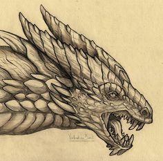 Tarkusfin by Nimphradora on DeviantArt Realistic Dragon Drawing, Fantasy Illustration, Dragon Art, My Arts, Creatures, Deviantart, Drawings, Artist, Illustrations