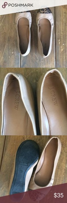 J.crew cheetah print flats Gently worn ballet flats with a lot of life left J. Crew Shoes Flats & Loafers