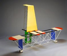 Peter Shire, Pizz-O-Lover (Airplane), 2007 Memphis Furniture, 80s Furniture, Furniture Design, Bauhaus, Peter Shire, Geometric Sculpture, Memphis Design, Cool Chairs, Lounge Chairs