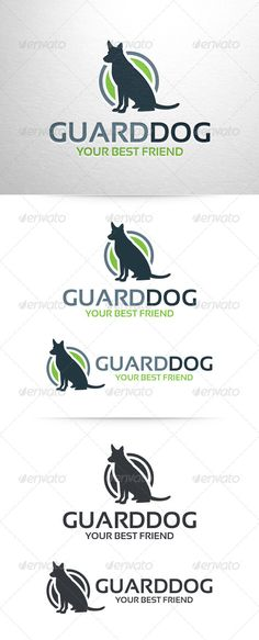 Guard Dog Logo Template — Vector EPS #store #training • Available here → https://graphicriver.net/item/guard-dog-logo-template/6512177?ref=pxcr
