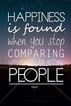 Because you compare yourself to people you percieve as happy