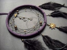 DIY Midnight Universe Dream Catcher.