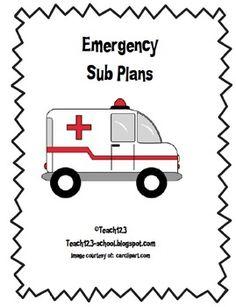 Emergency Sub Plans Kit - $