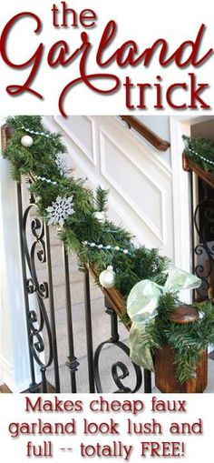 How to Decorate with Christmas Garland and Live Greenery