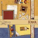 FREE Digital Scrapbooking Kit - School