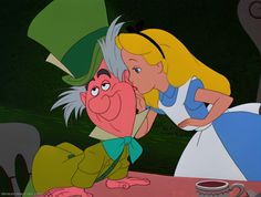 *MAD HATTER & ALICE ~ Alice In Wonderland (1951) - DisneyScreencaps.com
