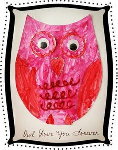 Candice, a friend of mine, made this awesome little owl valentine to hang in her office. I wanted to ask her immediately if I could steal it to do with Lorelai, but waited a week or so before begging. Valentine Day Crafts, Be My Valentine, Holiday Crafts, Valentine Ideas, Valentinstag Party, Classroom Crafts, Preschool Crafts, Owl Themed Parties, Owl Crafts