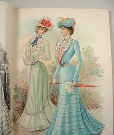 Vintage 1901 Delineator Illustrated Fashion Culture Magazine Edwardian Victorian.