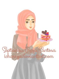 Hijab Cake Party by ichareza on DeviantArt Miss Candy, Party Cakes, Disney Characters, Fictional Characters, Aurora Sleeping Beauty, Deviantart, Disney Princess, Islamic, Drawing Drawing