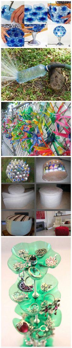 Trasformazione del vecchio materiale - bottiglia a mano