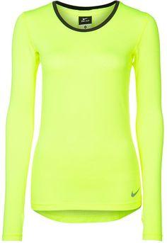 369cf0c1513 Nike Performance HYPERCOOL Langarmshirt volt cool grey auf shopstyle.de