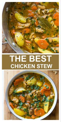 The best one-pot chicken stew ! So easy and absolutely delicious. The best one-pot chicken stew ! So easy and absolutely delicious. Best Chicken Stew, Stew Chicken Recipe, Vegetable Soup With Chicken, One Pot Chicken, Chicken And Vegetables, Chicken Recipes, Chicken Stew Slow Cooker, Dutch Oven Chicken, Stewed Chicken