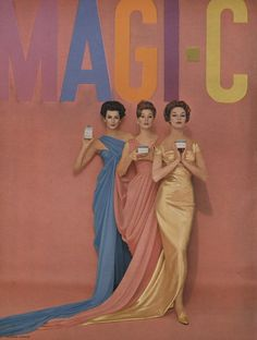 Magic-Care advertisement, photographed by Richard Avedon, from Vogue (March, 1959).