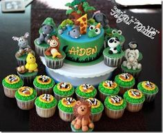 Jungle Birthday Cakes