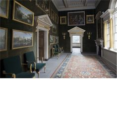 The Green Velvet Room at Chiswick House - house was built in  1726-29 to the designs of its owner, the 3rd Earl of Burlington.