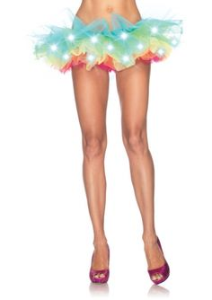 LED light up neon rainbow tutu.