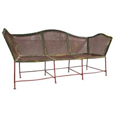 French Garden Bench, c. 1920 | From a unique collection of antique and modern benches at http://www.1stdibs.com/furniture/seating/benches/