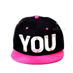 YOU 3D STUDDED SNAPBACK . Premium Headwear. Performance Headwear. Revolutionary Wicking along with Superior Drying Technology. Shrink Resistant. 3D Letters having clear cut design Very comfortable to wear with adjustable strap at the back. Hard and Sturdy Brim. The Black Coloured Cap and Pink Brim along with White 3D Letters make an extraordinary colour combination. http://roofcart.com/snapback/you-pink-and-black-snapback Keep Following #roofcart