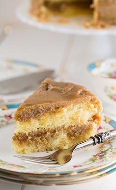 Southern Caramel Cake - Spicy Southern Kitchen Cake Icing, Buttercream Cake, Cupcake Cakes, Cupcakes, Poke Cakes, Layer Cakes, Fun Baking Recipes, Dessert Recipes, Recipes Dinner