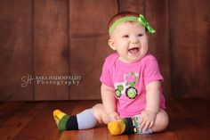 adorable boy or girl john deere farm tractor by twinspirations