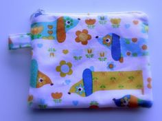 A small pouch with doggies