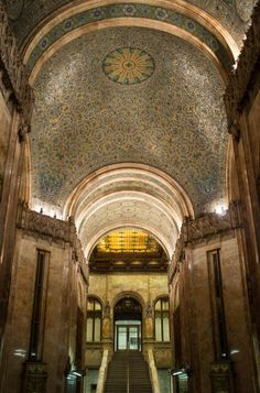 The ornate lobby of New York City's Woolworth Building