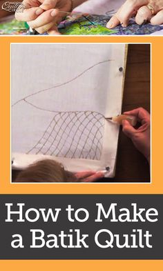 Heather Thomas gives you instructions on making your own batiks. They are usually manufactured in Indonesia and this method is very similar. Get special tips from Heather about fine subtleties to the technique such as avoiding resisting to much or too little.