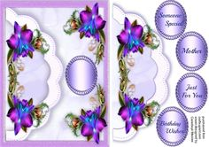 Lovely Scallope Envelope card with Orchids by Ceredwyn Macrae A lovely Envelope card with Beautiful Orchids for many occasions has 4 greeting tags and a blank one