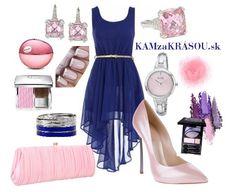 Modré šaty na stužkovú s ružovými doplnkami #kamzakrasou #sexi #love #jeans #clothes #coat #shoes #fashion #style #outfit #heels #bags #treasure #blouses #dress