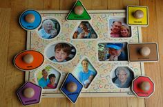 DIY photo puzzle for toddlers. Makes a great gift!