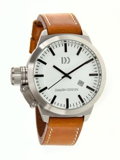 Danish Design Mens Stainless Watch - Brown Leather Strap - White Dial - DDSIQ12Q711  http://www.originalwatchstore.com/brand/danish-design/