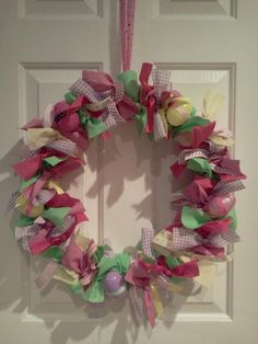 Easter fabric wreath
