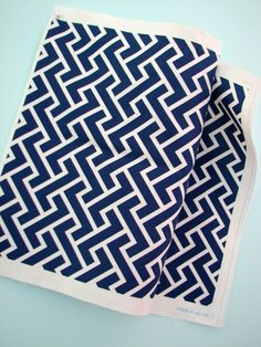 $42 Chloe in Royal- Original Geometric Vintage Inspired  Home Decor Fabric Yardage