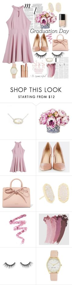 """""""Lady lavender"""" by averytheleapinglizard ❤ liked on Polyvore featuring Kendra Scott, Whiteley, Mansur Gavriel, Cynthia Rowley, Gucci, tarte and Nine West"""