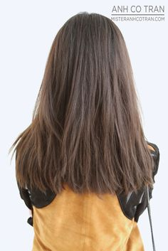 LA: BEFORE AND AFTER LONG AND SLEEK. Cut/Style: Anh Co Tran. Appointment inquiries please call Ramirez|Tran Salon in Beverly Hills: 310.724.8167