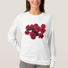 Red Rose Flowers Garden T-shirt - tap, personalize, buy right now!