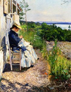 The Athenaeum - Sunshine, Kalvøya (Eilif Peterssen - 1891)