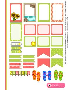Summer and Beach Stickers boxes for Happy Planner