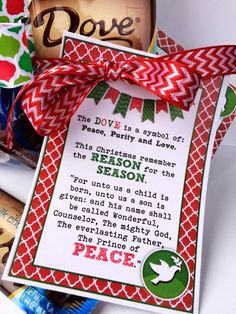 It& December! Can you believe it? Where has the time gone? This month& Visiting Teaching lesson is on: The Divine Mission . Neighbor Christmas Gifts, Christmas Poems, Christmas Favors, Christmas Jesus, Christian Christmas, Neighbor Gifts, Christmas Traditions, Holiday Fun, Holiday Gifts