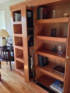 Awesome Hidden Gun Storage Furniture Ideas - Page 19 of 52 Hidden Gun Storage, Hidden Shelf, Secret Storage, Hidden Gun Safe, Hidden Weapons, Hidden Spaces, Hidden Rooms, Hidden Compartments, Custom Furniture