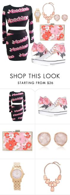 """sexy style"" by amniaali ❤ liked on Polyvore featuring Moschino, Converse, New Look, Monica Vinader, Gucci and Kendra Scott"