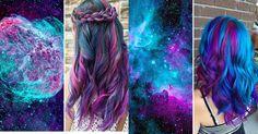 Outre-atlantique, on appelle ça des 'Galaxy Hair' (Coiffure Galactique) et c'est une mode qui se répand comme une traînée de poudre. Plus subtile que la mode des cheveux arc-en-ciels, elle permet des dégradés de couleurs pastels ou plus sombres du plus bel effet.