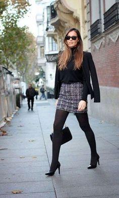 Look Saia Xadrez + Blazer