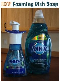 DIY: Foaming dish and hand soaps